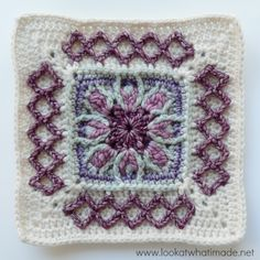 """Esme's Winter Cottage {12"""" Crochet Square} ⋆ Look At What I Made"""