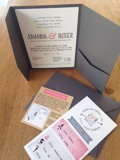 Pocketfold envelop trouwkaarten.  www.letterlijn.nl