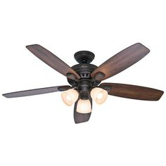 Hunter-52-New-Bronze-Ceiling-Fan-with-Light-Remote-Control-5-Blade-Light