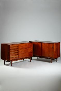 Pair of sideboards designed by Arne Vodder for Sibast, Denmark. 1960's