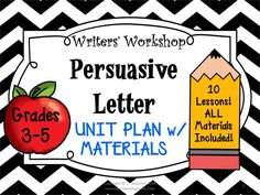 Grades 3-5 Teach students how to write a Persuasive Letter. Print and Teach TODAY!