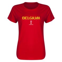 Belgium 2018 FIFA World Cup Russia™ Essential Womens T-Shirt (Red)
