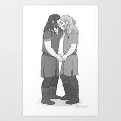 'Forehead Kiss' Fili and Kili - brothers. Tolkien Hobbit, The Hobbit, Lotr, Thranduil, Legolas, Gandalf, Bilbo Baggins, Thorin Oakenshield, Sherlock Holmes Benedict Cumberbatch