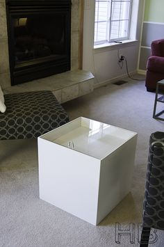Construct a Modern Cube Side Table with Storage