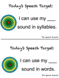Free! articulation speech targets…6 pages