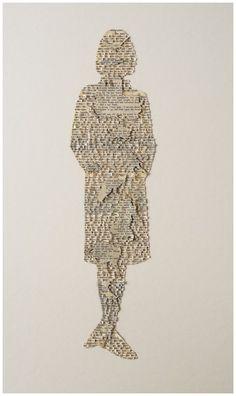 ellen bell, Chatelaine (2) 2008    82.5 x 60.5 x 5 cm Text on paper & acid-free glue