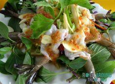 Rohe Garnelen mit Chilis und Knoblauch, Laos
