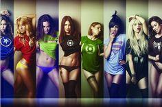Comic Marvel SuperHero Superman Sexy Girl poster home decoration Canvas Print 50x75cm Free Shipping