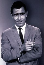 "Rod Serling (1924-75) PVT USA Airborne '43-46 WW II. Enlisted and served in Pacific Theater as demolitions specialist with 11th Airborne Division. In Philippine Islands campaigns: Battle Leyte, Leyte Gulf, & Tagaytay Ridge. Earned Bronze Star & Purple Heart. Deeply affected by the war he suffered with post traumatic stress nightmares and flashbacks the rest of his life. Best known for TV series ""Twilight Zone"" '59-64 & ""Night Gallery"" '65-66.from my hometown, Binghamton, NY"