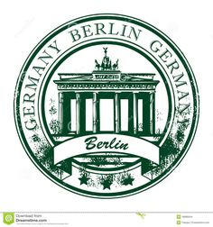 grunge rubber stamp with brandenburg gate and the word berlin germany inside vector illustration