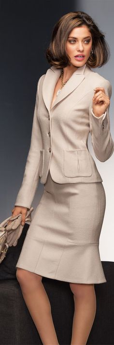 Madeleine Fall 2014 ● Madeleine Wool Suit Wears with apparently stockings and suspender.