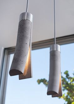 Unique Lighting designs by Dror Kaspi / Ardoma Design, A Release table lamp, and a Split lamp is a pendant light, manufactured from concrete and aluminum. Unique Lighting, Lighting Design, Pendant Lighting, Pendant Lamps, Lighting Ideas, Light Pendant, Concrete Light, Concrete Lamp, Concrete Counter