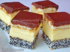 Prajitura cu mac Tosca Romanian Desserts, Russian Desserts, Sweets Recipes, Cookie Recipes, Desserts Around The World, Delicious Desserts, Yummy Food, Happy Foods, Pastry Cake