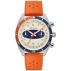 "Riding the Vintage Wave: Bulova Expands Archive Series with Chronograph A ""Surfboard"" Vintage Waves, Vintage Style, Bulova Watches, Watch Display, Watch Brands, Stainless Steel Case, Quartz Watch, Chronograph, Surfboard"
