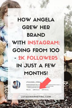 How Angela grew her Instagram followers from 100 to 2,000 followers in just a few months. This post is perfect for bloggers, entrepreneurs, etsy shop owner and small business owners alike. It has some great tips and tricks for growing your following + making money on Instagram. Click here to read the full case study.