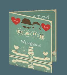Aankondiging huwelijk originele huwelijkskaarten of trouwkaarten