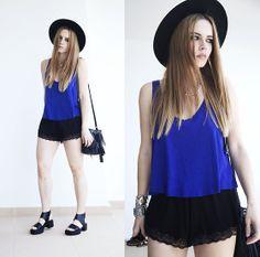 H&M Top, Oysho Shorts, H&M Sandals, H&M Hat