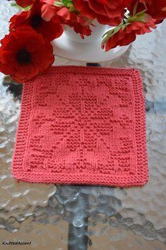 Knitting pattern by KnittedAccent - Diy-stricken Knitted Dishcloth Patterns Free, Knitting Squares, Knitted Washcloths, Crochet Dishcloths, Knitting Patterns Free, Stitch Patterns, Crochet Patterns, Love Knitting, Knitting Blogs