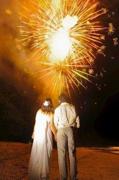 Wedding Fireworks in Costa Rica by Nosara weddings & Events!