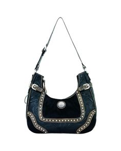 Womens Annies Secret Collection Scoop-Top Hobo - Black/Black Hair/ Distressed Charcoal MSRP  $219.30 American West  http://websites-buy.com/countryoutfitter.com