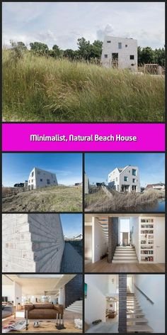 Rising out of the Westlandse Zoom dunes like a rock on the beach, this minimalist family home embraces natural inspiration in more than just design. Global A Cleaning White Walls, Beach Grass, Solar Heater, Beach Rocks, Architect Design, Beach House Decor, Open Up, Exterior Design, Holland