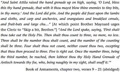 The Holy Hand Grenade of Antioch... instructions.