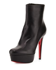 3409c7717c9 Bianca+Leather+120mm+Red+Sole+Bootie