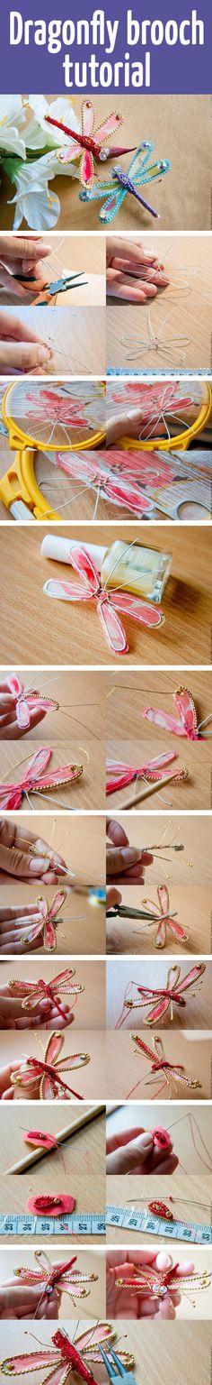 Dragonfly brooch tutorial