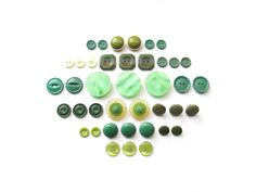Emerald City Vintage Button Sets