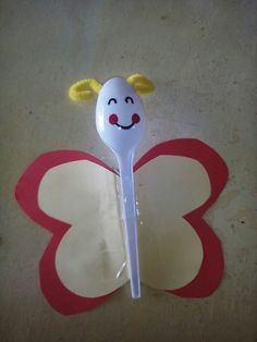 A butterfly made with a spoon