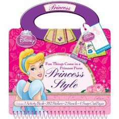 Artistic Studios Disney Princess Style Activity Purse by Artistic Studios Ltd.. $9.48. Officially licensed product. 1 Activity book. One Stencil. Includes 24 Snap-outs. Includes 39 Stickers. From the Manufacturer                This purse shaped book combines fashion and style with your favorite licensed character. Interactive pages encourage the child to design and decorate with snap-outs, stickers and stencils.                                    Product Description       ...