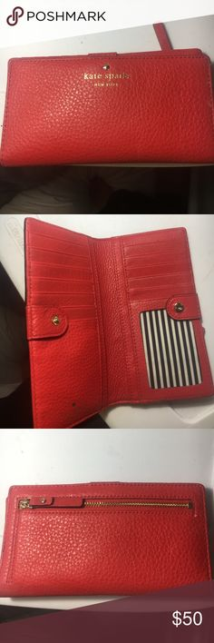 Kate Spade Wallet Red Kate Spade Wallet- Cameron Street Stacy: barely used kate spade Bags Wallets