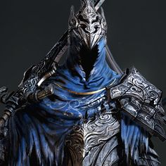 """Reference by """"Dark Souls - Artorias of the Abyss"""" Tools used: Autodesk Max, Photoshop, Zbrush, Marmoset Toolbag 2 Arte Dark Souls, Dark Souls 3, Wolf Knight, Dark Knight, Fantasy Armor, Anime Fantasy, Armor Concept, Concept Art, Dark Souls Artorias"""