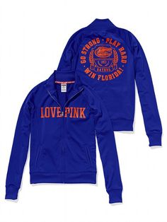 Victoria's Secret PINK University of Florida Track Jacket #VictoriasSecret http://www.victoriassecret.com/pink/university-of-florida/university-of-florida-track-jacket-victorias-secret-pink?ProductID=82513=OLS?cm_mmc=pinterest-_-product-_-x-_-x