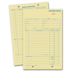 we provide imprinted templates of work order forms for all professions these are carbonless work orders custom printed with your logo and business