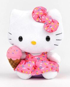 Hello Kitty Plush (Sprinkles) ~♡♡♡ (=^ェ^=). Sanrio Hello Kitty, Peluche Hello Kitty, Bolo Hello Kitty, Hello Kitty Toys, Little Twin Stars, Little Girls, Hello Kitty Imagenes, Wonderful Day, Cat Party