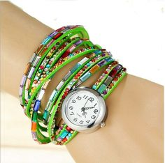NEW Fashion Strip Bracelet Watch (Color: Green) | Save upto 45% with us |  Visit our website now  uniquefashionusa.com