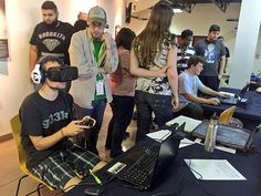 UAT Students Playtest Alumni Game at VR Release Party