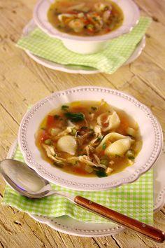 Cinco Quartos de Laranja: Sopa de galinha com tomate