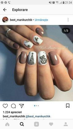 61 Christmas Nail Art Designs & Ideas for 2019 Xmas Nails, Holiday Nails, Christmas Nails, Winter Christmas, Valentine Nails, Father Christmas, Green Christmas, Halloween Nails, Christmas Gifts