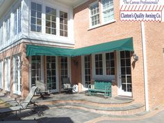 Residential Awning Over Partial Seating Area, Windows And Doors