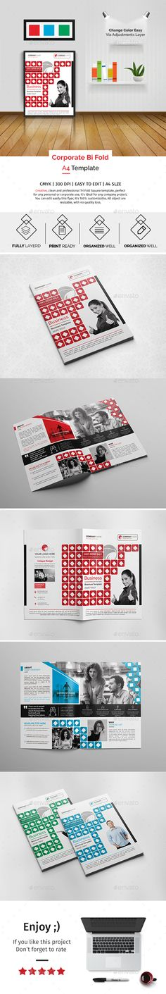 Corporate BiFold Brochure Template   Shopping Technology And