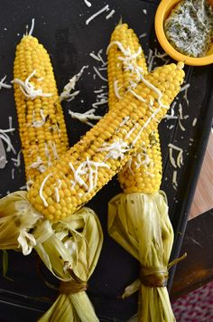 Corn On The Cob with Roasted Garlic Herb Butter