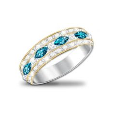 The Infinite Joy Womens Ring With Genuine Blue Topaz