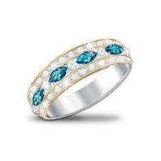 The Infinite Joy Womens Ring With Genuine Blue Topaz