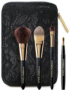 Dolce & Gabbana The Mini Brush Collection #beauty #products #brushes #travel