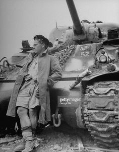 A soldier from the 20th Armoured Regiment of the 4th New Zealand Armoured Brigade leans against his American-made M4 Sherman tank following the end of the heavy bombardment against German forces to secure the town of Cassino, Italy, May 19, 1944. During the combat, known as 'the Battle of Monte Cassino' after the mountain at the base of which lay the town, most of the city destroyed, which necessitated its being rebuilt nearby following the conclusion of the hostilities.