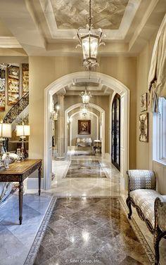 Villa Belle - marble floors and murals