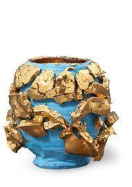 Sky-slipped Gold Kairagi Shino bowl
