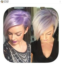 Gorgeous lavender blonde hair